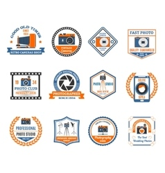 Photography Emblems Set vector image vector image