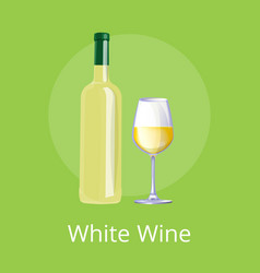 white wine set of two items vector image vector image