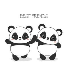 panda bear panda bear vector image vector image