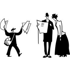 paperboy scene vector image vector image