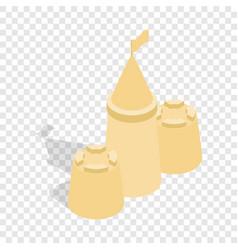 sandcastle isometric icon vector image