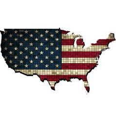 USA map in grunge vector image vector image