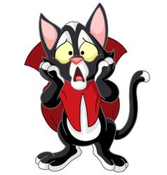 vampire cat vector image vector image