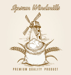 windmill product vintage poster vector image