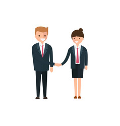 young business people man and woman in cartoon vector image