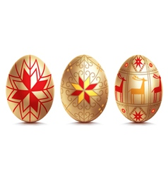 Easter golden egg vector image vector image