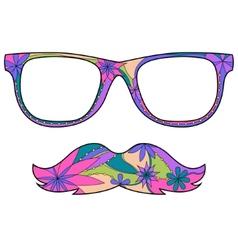 Glasses amd mustache vector image vector image