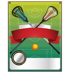 Lacrosse Tournament Blank Template vector image vector image