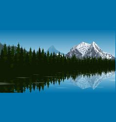 mountain lake landscape vector image