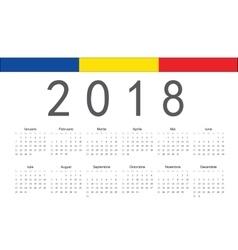 Romanian 2018 year calendar vector image vector image