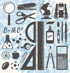 School Icons and Symbols vector image vector image