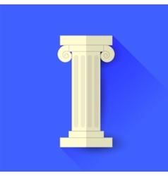 Single Greek Column vector image vector image