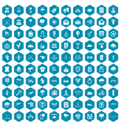 100 arrow icons sapphirine violet vector image