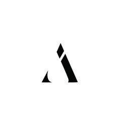 Ai initial logo design logo letter logo vector
