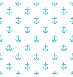 Anchor pattern cartoon style vector image