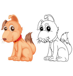 Animal outline for cute dog vector