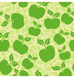Apples with leaves vector