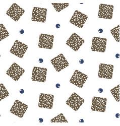 australian lamington cake seamless pattern vector image
