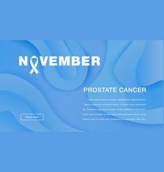 Awareness prostate cancer november world prostate vector