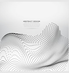 Awesome particles wave background vector