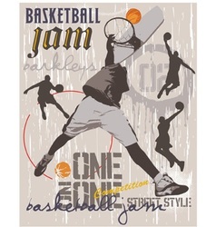 Basket ball ONE on ONE vector