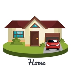 Beautiful home design vector