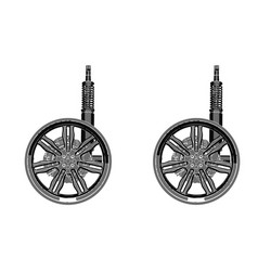 black wheel on white background vector image