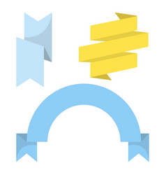 Blue and yellow colored ribbons vector
