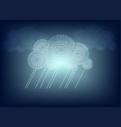 Blue background with cloud vector