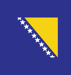 bosnia and herzegovina flag for independence day vector image