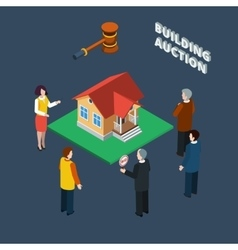 Building Auction Isometric vector