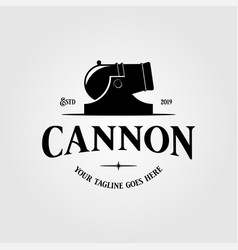 cannon icon isolated on white background for your vector image