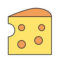 cheese piece icon image vector image
