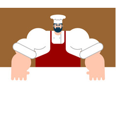chef and table template for restaurant vector image