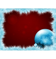 Christmas balls at the xmas glow background EPS 8 vector