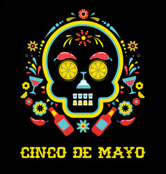 Cinco de mayo greeting card vector