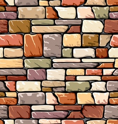 Color stone wall vector