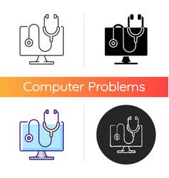 computer diagnostics icon vector image