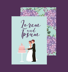 couple wedding card vector image