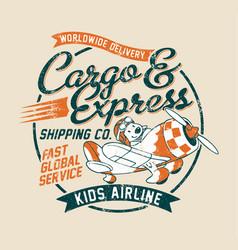 cute express cargo shipping company vector image