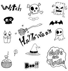Cute halloween doodle art vector