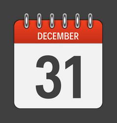 December 31 calendar daily icon vector