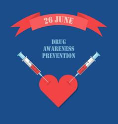 Drug awareness prevention international 26 june vector