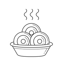 dumplings line icon vector image