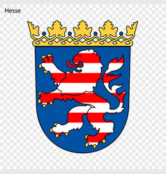 emblem of hesse province of germany vector image