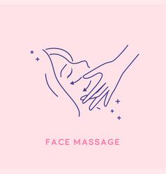 Facial massage icon cosmetology concept vector