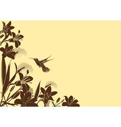 floral backgroud vector image