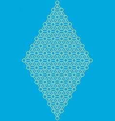 Geometric interlaced pattern vector image