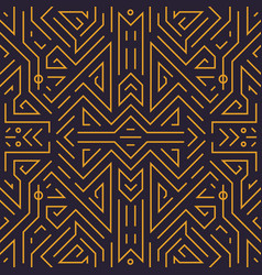 geometric seamless pattern monogram vector image