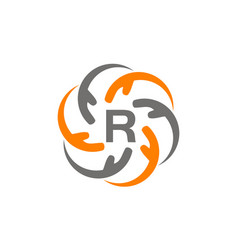 hand care solution initial r vector image